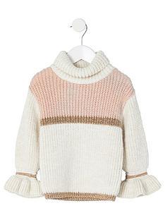 river-island-mini-mini-girls-colour-block-jumper-cream