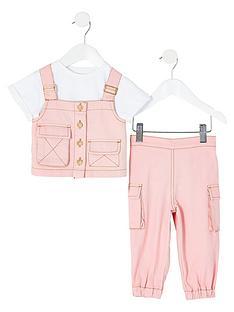 river-island-mini-mini-girls-utility-denim-outfit-pink