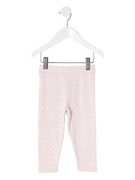 river-island-mini-mini-girls-all-over-printed-leggings-pink