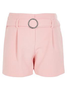 river-island-girls-bling-shorts-pink