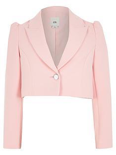 river-island-girls-puff-sleeve-cropped-blazer-pink