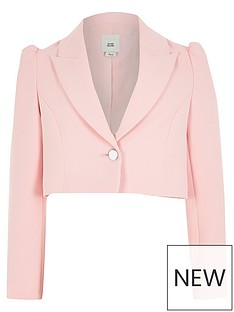 river-island-girls-puff-sleeve-cropped-blazer-pink