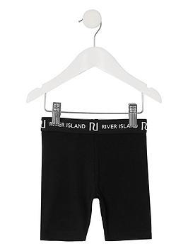 river-island-mini-mini-girls-waistband-cycling-shorts-black