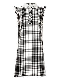 river-island-girls-monochrome-check-shirt-dress-blackwhite