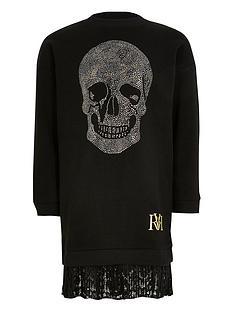 river-island-girls-embelished-skull-sweatshirt-dress-black