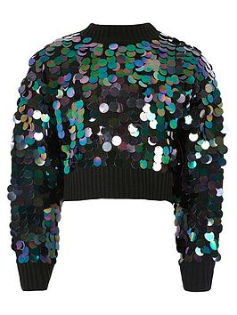 river-island-girls-slouch-sequin-cropped-jumper-black