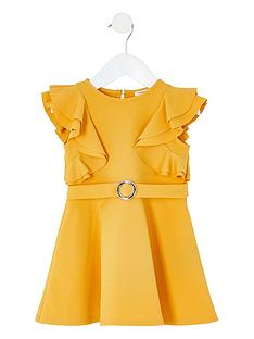 river-island-mini-mini-girls-ruffle-belted-skater-dress-yellow