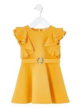 river-island-mini-mini-girls-ruffle-belted-skater-dress-yellow