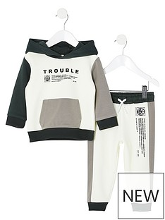 river-island-mini-mini-boys-trouble-hoodie-and-jog-pant-set-white