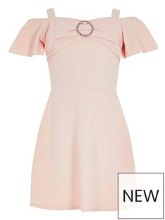 river-island-girls-scuba-frill-diamante-dress--pink