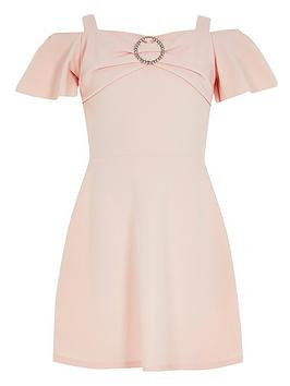 river-island-girls-scuba-frill-diamante-dress--pink