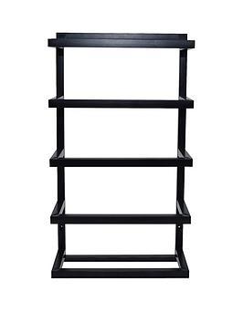 lloyd-pascal-matt-black-5-tier-towel-rail