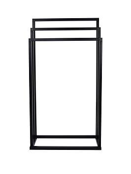 lloyd-pascal-matt-black-3-rail-square-tube-towel-stand