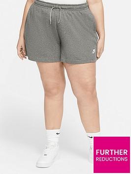 nike-curve-nsw-club-fleece-shorts-dark-grey-heather