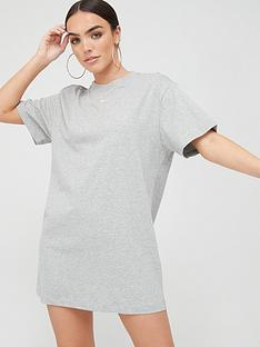 nike-nswnbspessentials-t-shirtnbspdress-dark-grey-heathernbsp