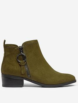 dorothy-perkins-dorothy-perkins-wide-fit-khaki-flat-ankle-boots