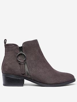 dorothy-perkins-dorothy-perkins-wide-fit-grey-flat-ankle-boots