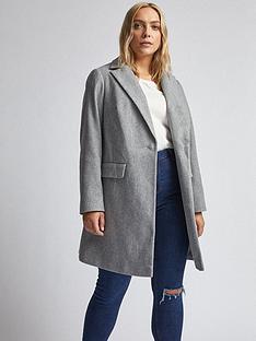 dorothy-perkins-curve-minimal-coat-grey