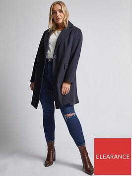 dorothy-perkins-curve-minimal-coat-navy