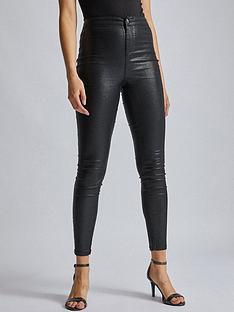 dorothy-perkins-black-glitter-lyla-jeans