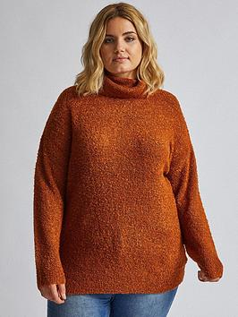 dorothy-perkins-dorothy-perkins-curve-roll-neck-jumper-rust