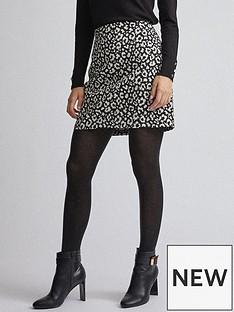 dorothy-perkins-mono-jacquard-mini-skirt