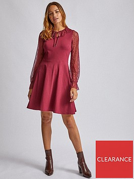 dorothy-perkins-dorothy-perkins-lace-collar-two-in-one-mini-dress-red