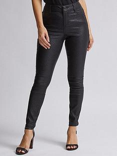 dorothy-perkins-petite-snake-frankie-jeans-black