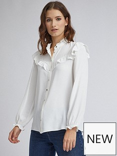 dorothy-perkins-dorothy-perkins-frill-button-shirt-ivory