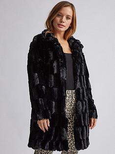 dorothy-perkins-dorothy-perkins-petite-black-faux-fur-jacket-black