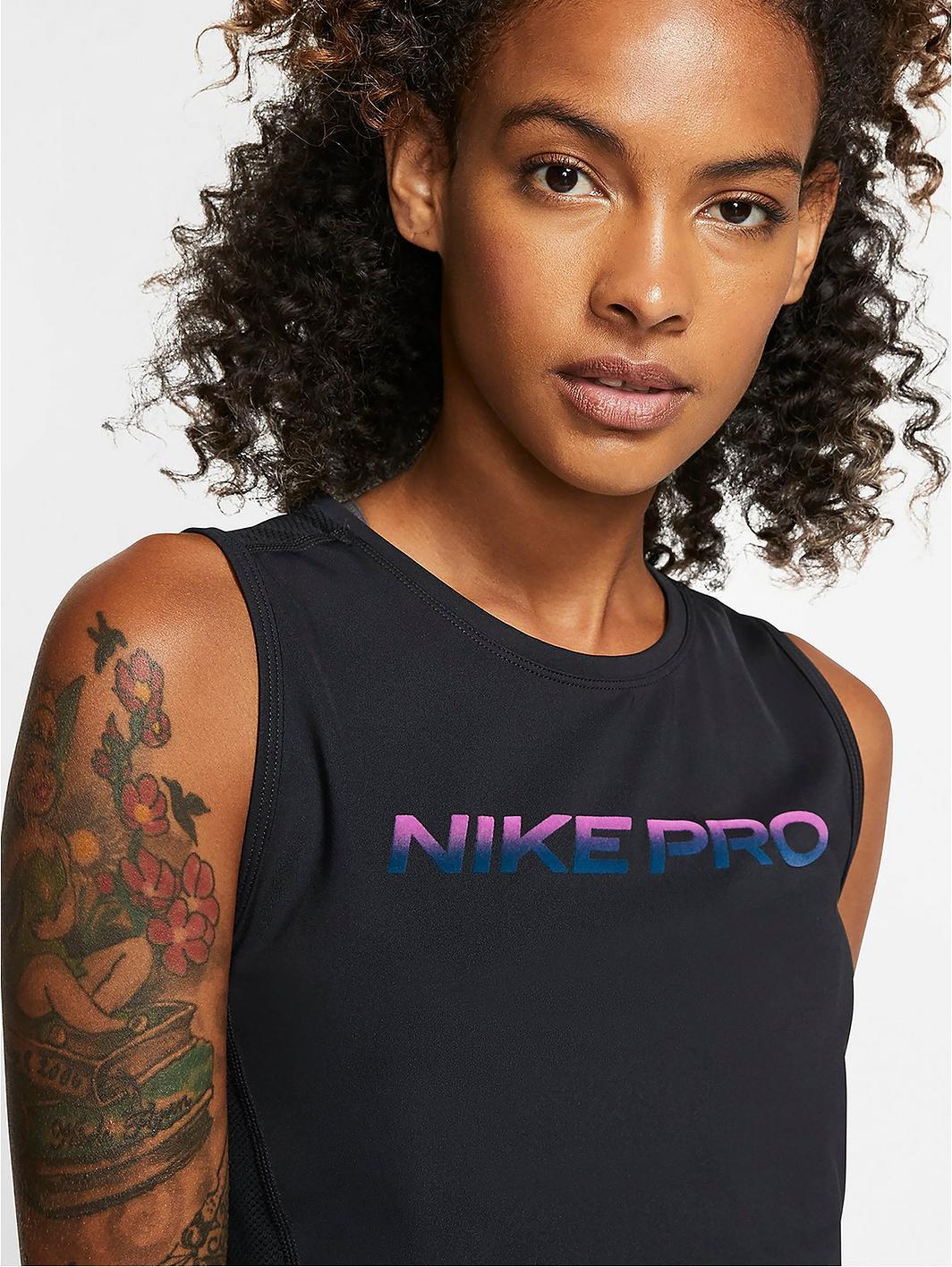 Nike Pro Training Crop Tank Top - Black kc45Xz