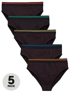 v-by-very-boy-5-pack-briefs-black