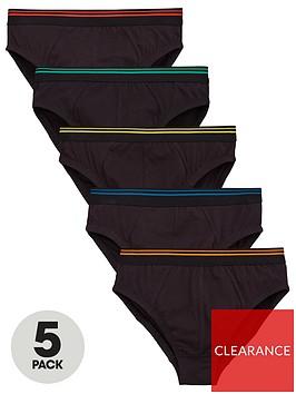 v-by-very-boy-5-pack-briefs-black