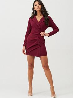 boohoo-boohoo-button-detail-wrap-blazer-dress-burgundy
