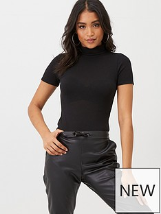 boohoo-boohoo-turtle-high-neck-short-sleeved-bodysuit-black