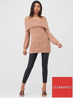 boohoo-boohoo-off-the-shoulder-fluffy-jumper-dress-camel