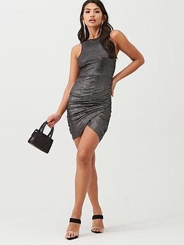 boohoo-boohoo-sequin-sleeveless-wrap-dress-black