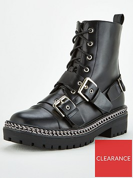 v-by-very-lace-and-buckle-chain-trim-boots-black