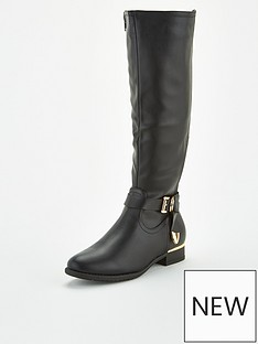 v-by-very-stretch-back-riding-boots-black