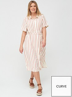 junarose-lila-stripe-short-sleeved-dress-printed