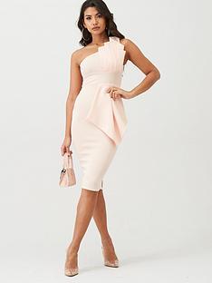 boohoo-boohoo-one-shoulder-pleated-detail-midi-dress-pale-pink