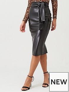 boohoo-boohoo-belted-pu-pencil-skirt-black