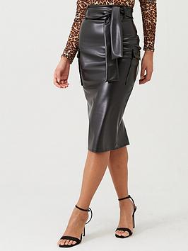 boohoo-boohoo-belted-pu-pencil-skirt-black