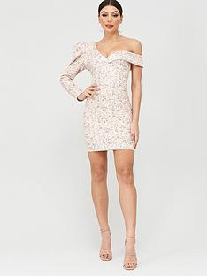 lavish-alice-statement-shoulder-mini-dress-beige