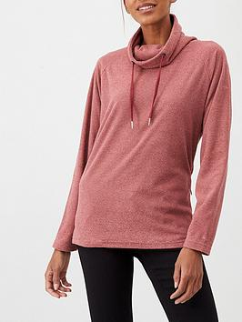 trespass-jeannie-overhead-fleece-hoodie-pink