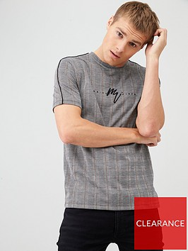 river-island-grey-maison-riviera-muscle-fit-check-t-shirt