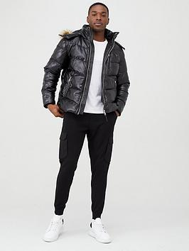 river-island-mcmlx-black-faux-leather-padded-jacket
