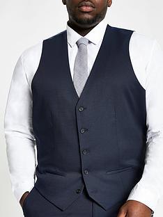 river-island-big-and-tallnbsp-suit-waistcoat-navynbsp