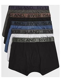 river-island-big-and-tall-grey-metallic-trunks-5-pack
