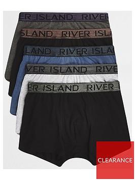 river-island-big-and-tall-grey-metallic-trunks-5-pack